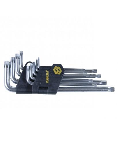 ключи torx 9шт T10-T50мм CrV (средние с отвер)