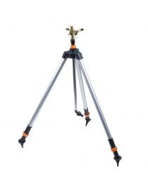 Поливалка импульсная 30-360° Диаметр распыления 26 метров (латунь) + штатив FLORA (500312z)