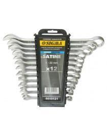 Ключи рожково-накидные 12шт 6-22мм CrV satine