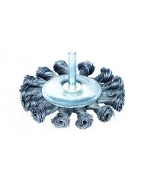 """щетка стальная дискообразная""""дрель""""100мм. до 4500 об/мин"""