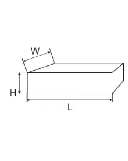 Губка вольфрамовая крупнозернистая 100*70*25 мм (зерно 40/60)