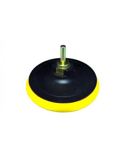 диск шлифовальный резиновый 125мм с липучкой (болгарка) М14*2 - 6 мм 10000 об/мин