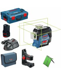 Лазерный нивелир Bosch GLL 3-80 CG + BM 1 (12 V) + L-Boxx (зеленый луч)