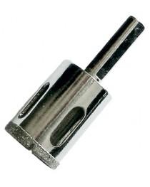 Коронка алмазная по керамике и стеклу 25 мм SIGMA высота 35 мм трехгранный хвостовик