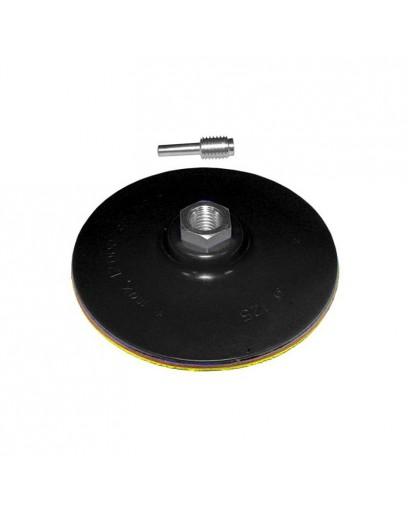 диск шлифовальный резиновый 115мм с липучкой (дрель) М14*2 - 6 мм 2000 об/мин