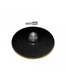 диск шлифовальный резиновый 125мм с липучкой (дрель) М14*2 - 6 мм 2000 об/мин
