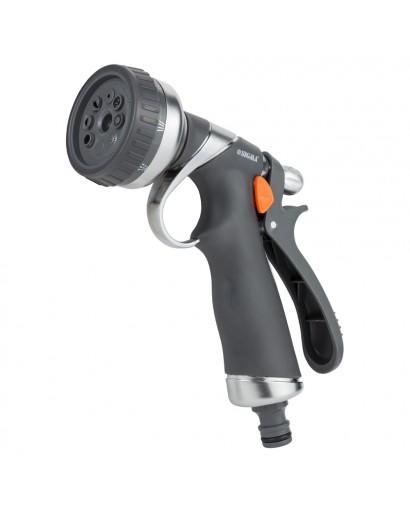 Пистолет распылитель 8-ми режимный (AL+TPR) FLORA (5011314)