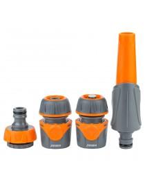 Набор для полива: насадка распылитель 2-х режимный, 2 коннектора, адаптер (ABS+TPR) FLORA (5011624)