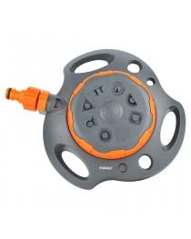 Дождеватель на пластиковой базе 8-ми режимный с выключателем FLORA (5013714)