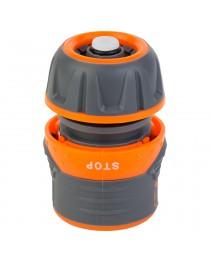 """Коннектор 1/2"""" быстросъёмный для шланга 1/2"""" аквастоп с замком FLORA (5015434)"""