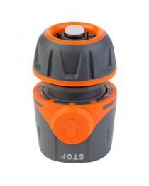 """Коннектор 1/2"""" быстросъёмный для шланга 1/2"""" аквастоп FLORA (5015494)"""