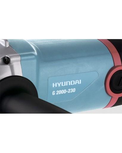 Угловая шлифовальная машина 2000 Вт 6000 Об/мин Диаметр круга 230 мм HYUNDAI G 2000-230
