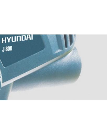 Электролобзик 710 Вт 3000 ход/мин глубина распила 80 мм Угол реза 90-45° Визуализация линии реза HYUNDAI J 800