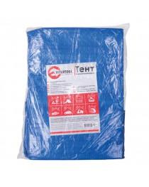 Тент синий, полиэтиленовый, плотностью 65г/м², с проушинами и двусторонней ламинацией, 6*10м INTERTOOL AB-0610