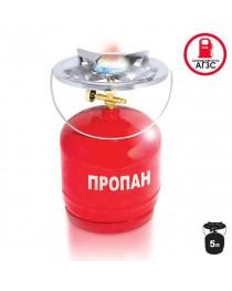 Комплект газовый кемпинговый 5 литров INTERTOOL GS-0005