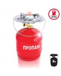 Комплект газовый кемпинговый 8 литров INTERTOOL GS-0008