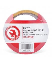 Скотч двухсторонний 50мм*10м на полипропиленовой основе INTERTOOL KT-0952