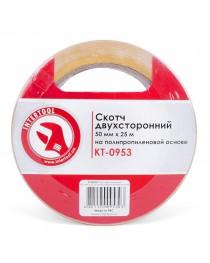 Скотч двухсторонний 50мм*25м на полипропиленовой основе INTERTOOL KT-0953