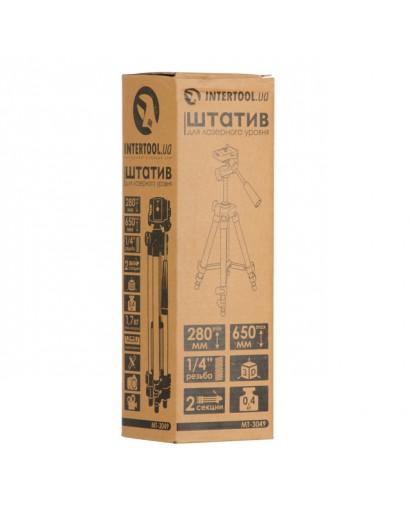 """Штатив для лазерного уровня 280-650 мм, резьба 1/4"""" INTERTOOL MT-3049"""