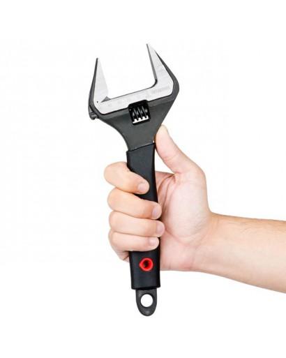 Ключ разводной 250мм, обрезиненная рукоятка, развод губок 50мм, Cr-V INTERTOOL XT-0050