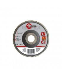 Диск шлифовальный лепестковый 115x22 мм, зерно K80 INTERTOOL BT-0108