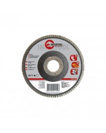 Диск шлифовальный лепестковый 125x22мм, зерно K60 INTERTOOL BT-0206