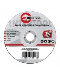 Диск отрезной по металлу 115x1,0x22,2 мм INTERTOOL CT-4001