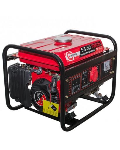 Генератор бензиновый макс. мощн. 1,2 кВт., ном. 1 кВт., 3,0 л.с., 4-х тактный, ручной пуск 26,5 кг. INTERTOOL DT-1111