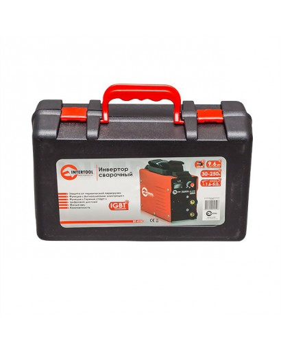 Инвертор сварочный 230 В, 30-250 А, 9,6 кВт INTERTOOL DT-4125