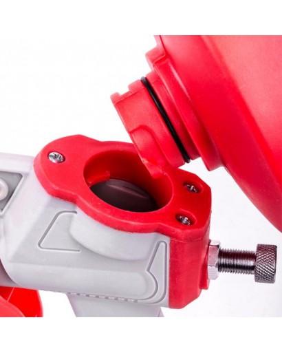 Пистолет покрасочный электрический HVLP 450 Вт, форсунка 1,5 мм, бачок 1 л; 0,14-0,35 Бар, 100-200 мл/мин INTERTOOL DT-5045