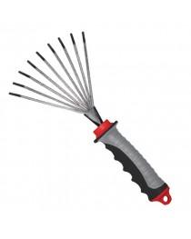 Грабли веерные 230 мм x 100 мм с комбинированной рукояткой INTERTOOL FT-0023