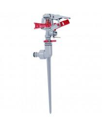 Дождеватель пульсирующий с полной/частичной зоной полива на костыле, круг/сектор полива до 12 м, Zinc alloy INTERTOOL GE-0056