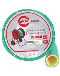 """Шланг для воды 4-х слойный 1/2"""", 100м, армированный, PVC INTERTOOL GE-4107"""