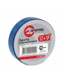 Лента изоляционная 0,15 мм x 17 мм x 15 м синяя (упак 10 шт) INTERTOOL IT-0015