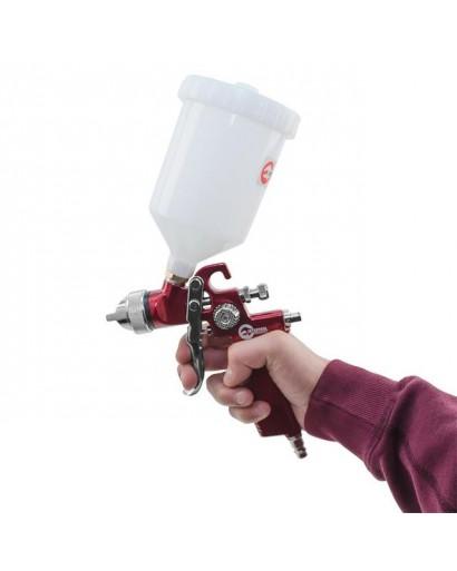 HVLP RED PROFКраскораспылитель 1,4 мм, верхний пластиковый бачок 600 мл INTERTOOL PT-0104
