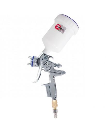 HVLP IIПрофессиональный краскораспылитель 1,3 мм, верхний пластиковый бачок 600 мл INTERTOOL PT-0105