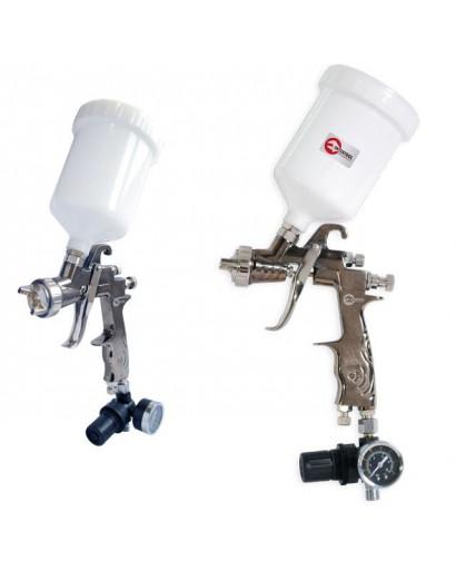 LVLP PROFкраскораспылитель 1,3 мм, с редуктором, пласт. в/бачок 600 мл., 2 атм INTERTOOL PT-0130