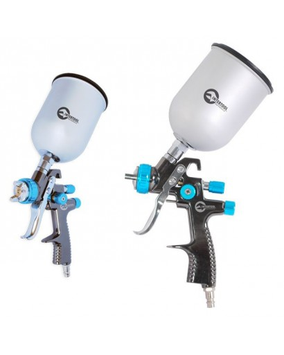 LVLP BLUE NEWПрофессиональный краскораспылитель 1,4 мм, верхний металлический бачок 600 мл., mах 1,5 атм INTERTOOL PT-0133
