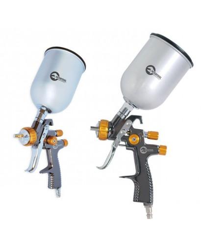 LVLP BRONZE NEWПрофессиональный краскораспылитель 1,8 мм, верхний металлический бачок 600 мл., mах 1 INTERTOOL PT-0135