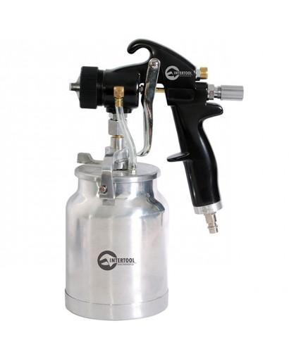 HVLP BLACK PROFКраскораспылитель 1,5 мм, нижний металлический бачок регулируемой подачей давления INTERTOOL PT-0214