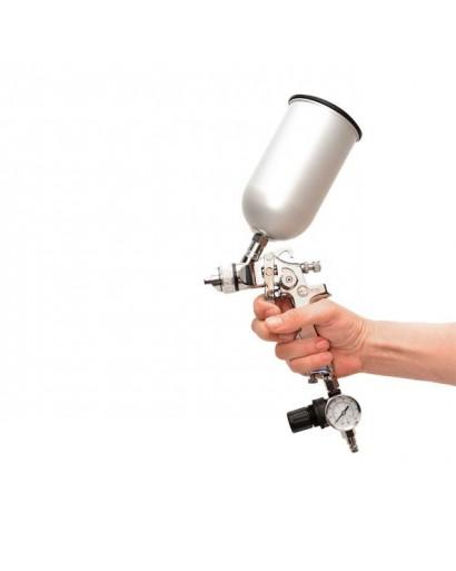 HVLP STEEL PROF KITКраскораспылитель 1,7 мм в комплекте с дополнительной форсункой 1,4 мм INTERTOOL PT-1505