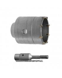 Комплект: сверло корончатое по бетону 32 мм+Переходник SDS Plus 100мм INTERTOOL SD-7032
