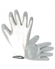 """Перчатка вязаная покрытая нитрилом на ладони 10""""(серая) INTERTOOL SP-0112"""