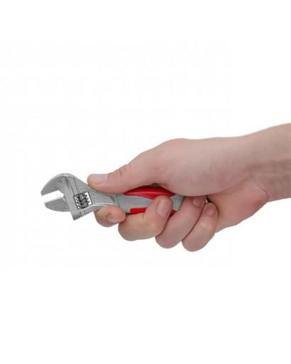 Ключ разводной 150 мм, изолированная рукоятка, никелевое покрытие INTERTOOL XT-0015