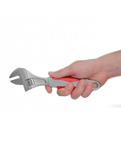 Ключ разводной 250 мм, изолированная рукоятка, никелевое покрытие INTERTOOL XT-0025