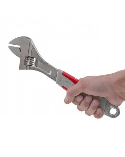 Ключ разводной 300 мм, изолированная рукоятка, никелевое покрытие INTERTOOL XT-0030