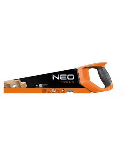 Ножовка по дереву с тефлоновым покрытием зубьев PTFE 400 мм 7TPI NEO-TOOLS