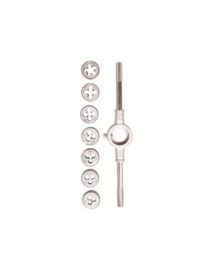 Набор плашек с держателем 8 предметов (M3,M4,M5,M6,M8,M10,M12) SIGMA (1640041)