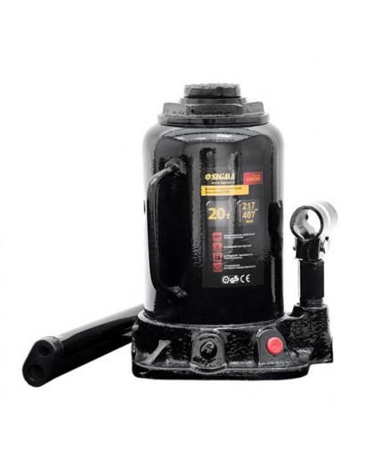 Домкрат гидравлический бутылочный mid 20тонн 217-407мм SIGMA