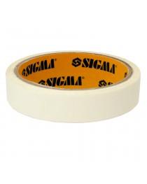 Лента малярная 19мм,50м белая SIGMA